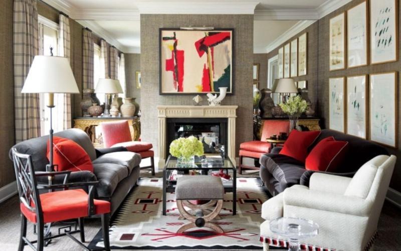 Venetian Inspired Art Deco Living Room