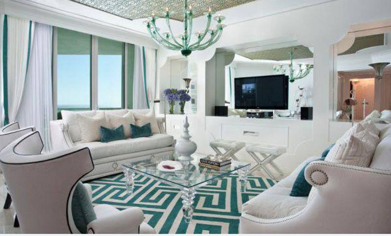 Vibrant Art Deco Living Room
