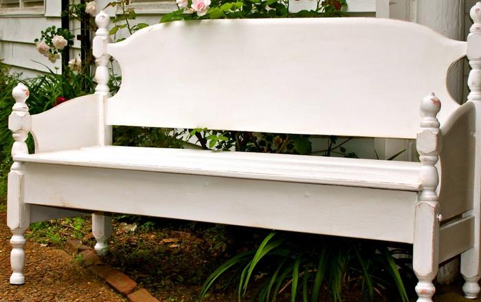 Build A Garden Bench From A Bed:Re Purpose Your Old Bed And Create A Super  Elegant And Classy Garden Bench That Will Stand Out Magnificently In Your  ...