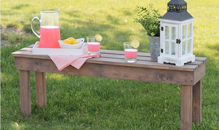 easy diy outdoor bencha bench that will allow you to make organized and super romantic picnic in your own garden is a super idea right