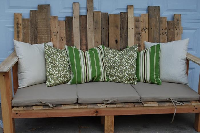 furniture made out of pallets. outdoor pallet sofa and an unexpected guestlearn how to make a beautify the appearance of your outdoors check out this project furniture made pallets