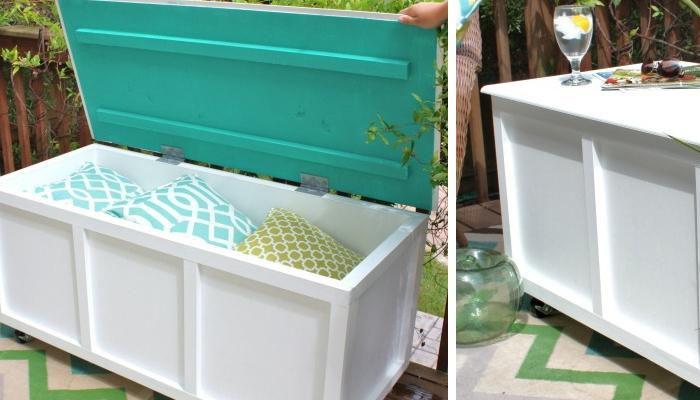 DIY Outdoor Storage Box / Bench :How cool it would be to have storage ...