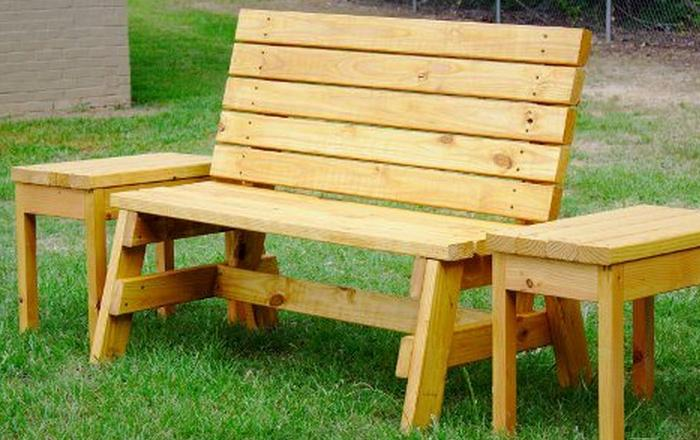 How To Build A Comfortable 2×4 Bench And Side Table:Wow! How Cool It Would  Be To Have Your Own Super Comfortable Bench With Two Side Table, Pretty  Much, ...