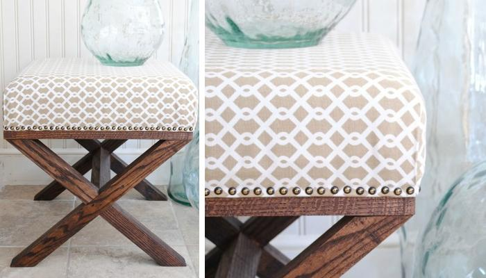 Tutorial For DIY X Leg Upholstered BenchThis Mini Bench With Legs Is Super Cute And Adorable The Best Of All Fact That You Can Make One By