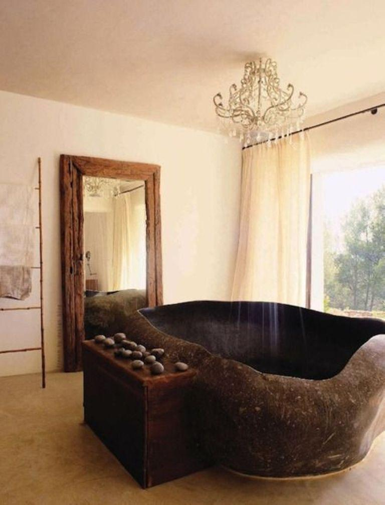 20 Amazing Bathroom Designs With Natural Stone Bathtub