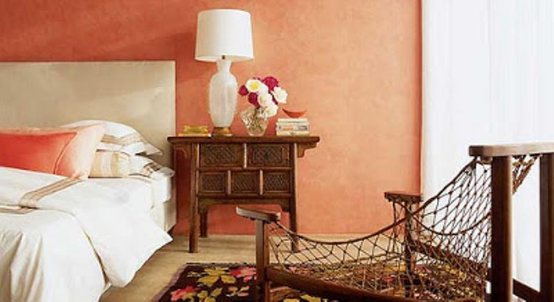 Amazing Coral Peach Bedroom