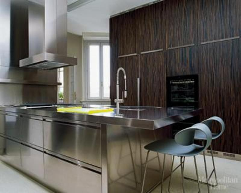 15 contemporary kitchen designs with stainless steel for Kitchen stainless steel cabinets
