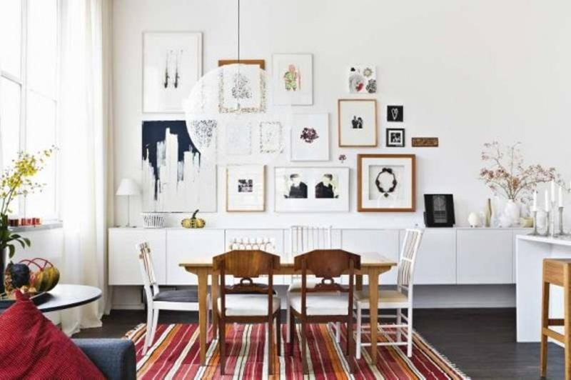 Artistic Scandinavian Dining Room. Image Source: Home  Designing