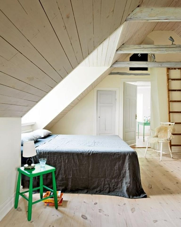 Attic Scandinavian Bedroom