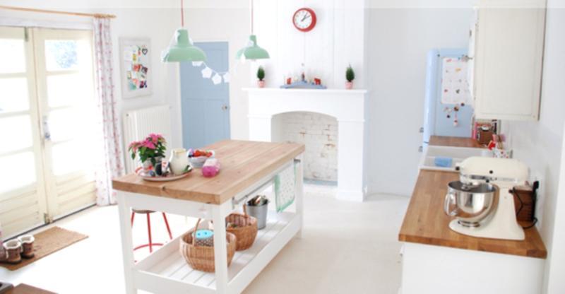 Beautiful Pastel Blue Kitchen