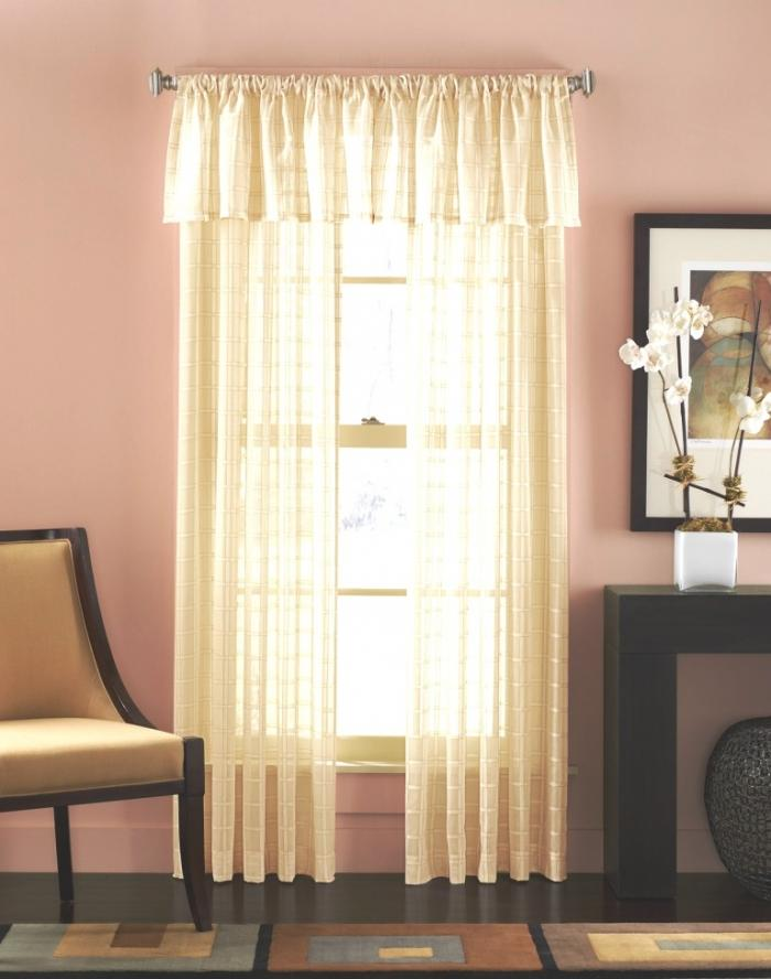 Beautiful Printed Cream Sheer Curtains