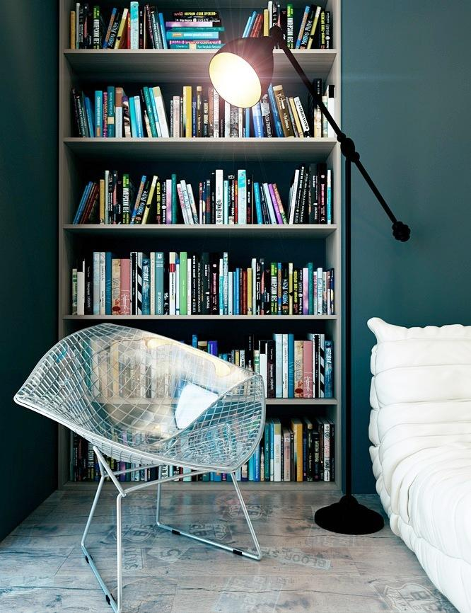 Wonderful 15 Marvelous Bedroom Designs With Accent Bookshelf