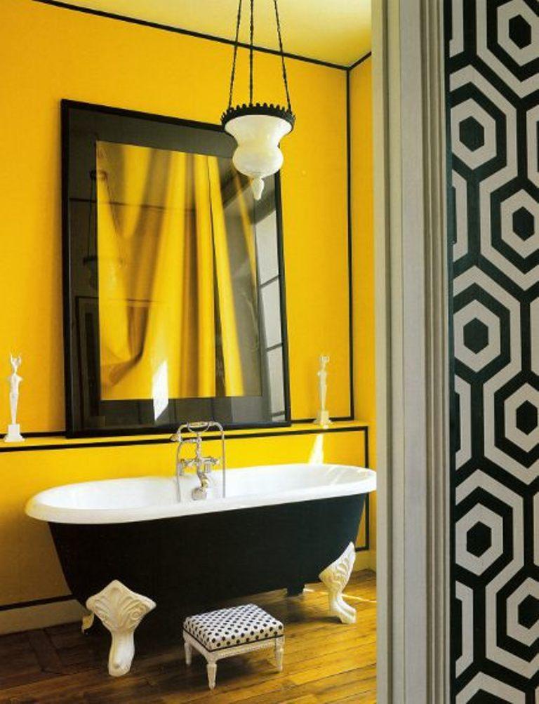 Bathroom Yellow Color Scheme 15 bold bathroom designs with unusual color scheme - rilane