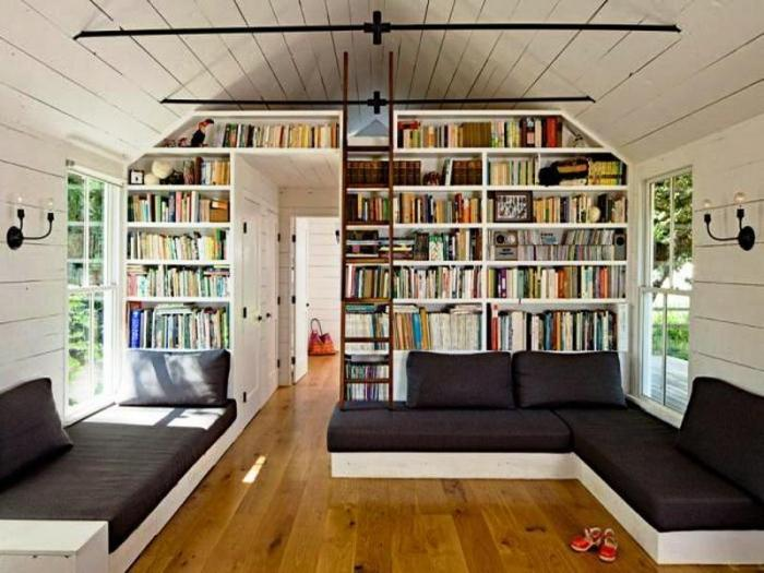 Bookshelf Attic Bedrooms