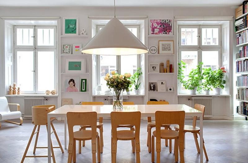 Superior Bright Scandinavian Dining Room