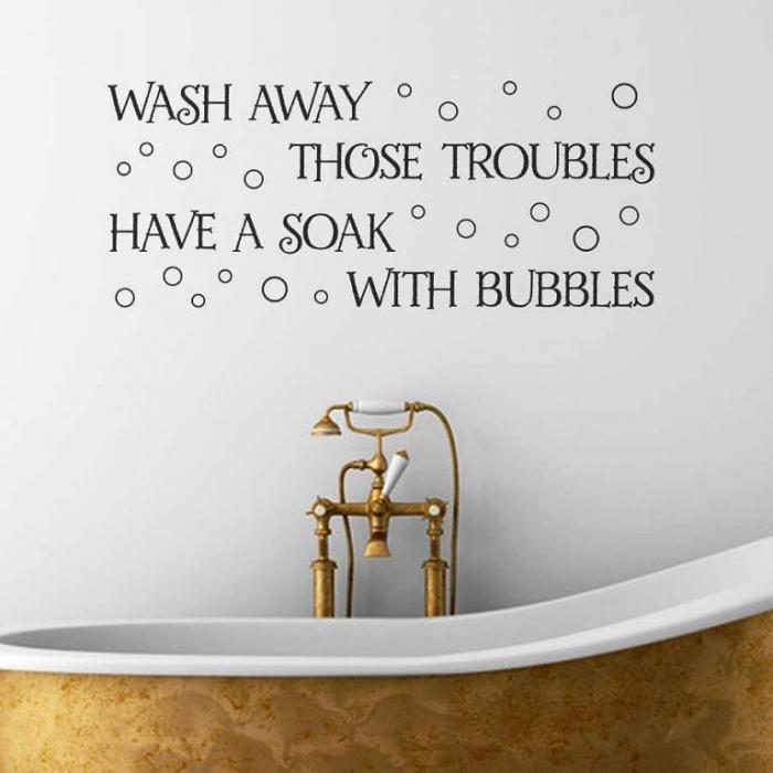 Decorative And Interesting Bathroom Wall Stickers Rilane - Wall decals bathroom