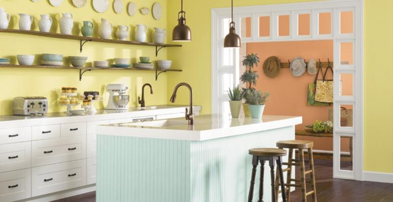 Chalky Pastel Kitchen