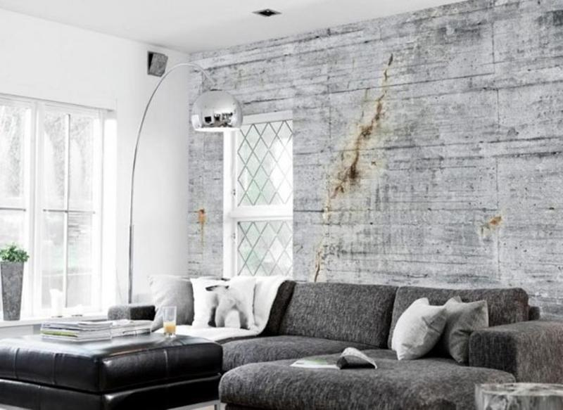 25 captivating living room designs with concrete wall - rilane