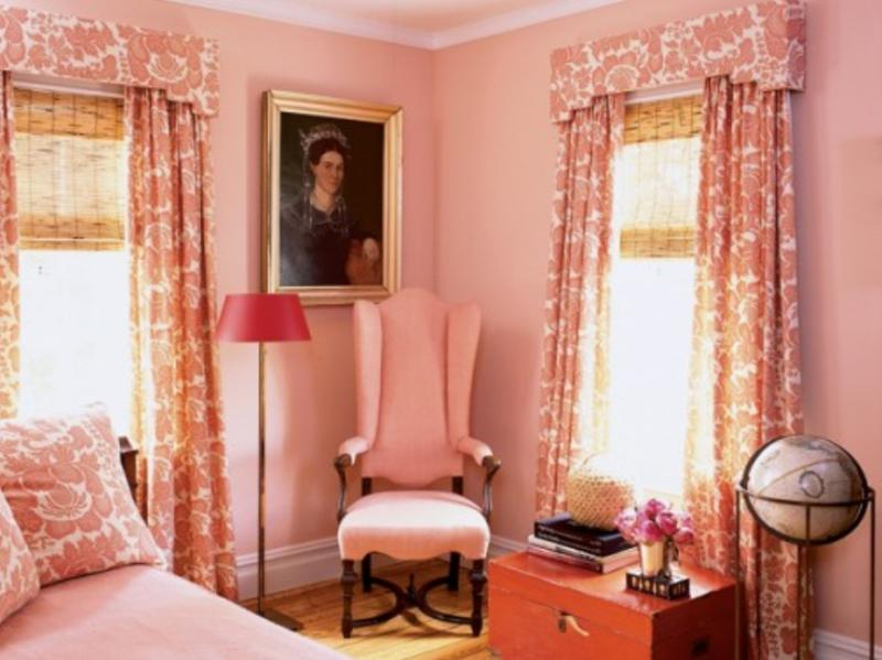 Georgian Coral Peach Bedroom
