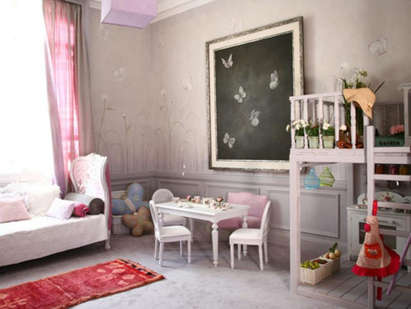 15 charming butterfly themed girl s bedroom ideas rilane. Black Bedroom Furniture Sets. Home Design Ideas