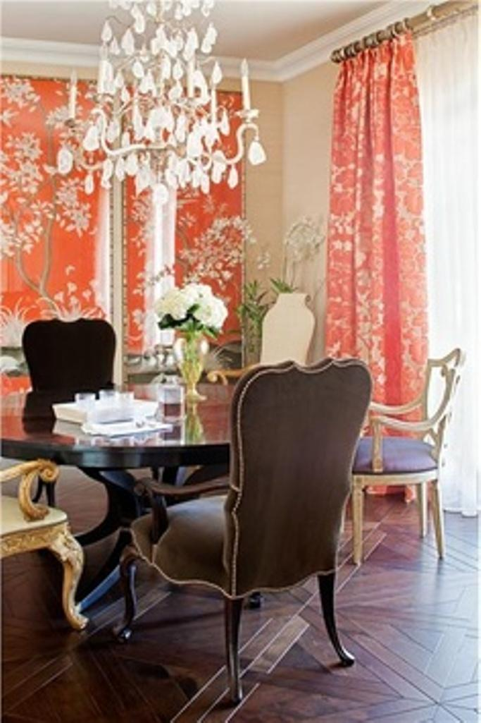 10 dining room designs with coral peach motifs - rilane