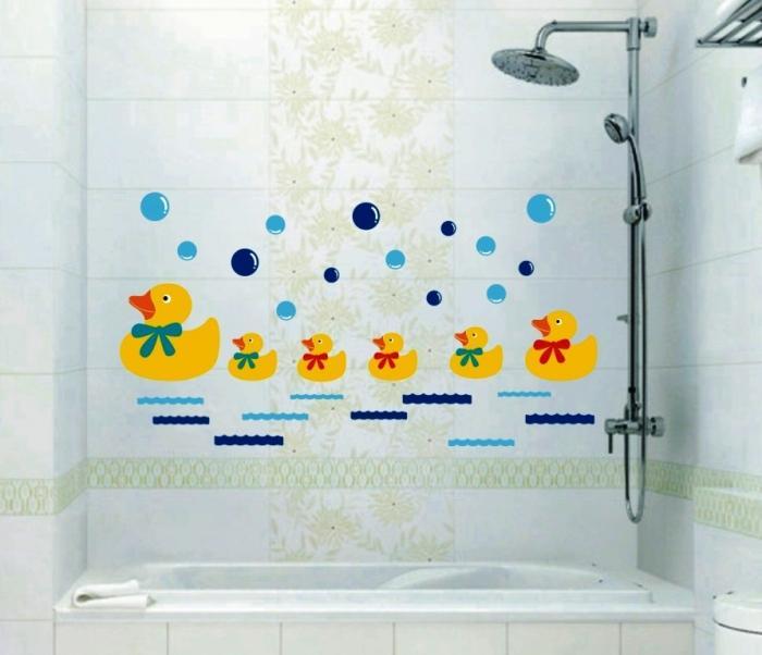 Family Of Ducklings Cute Bathroom Sticker