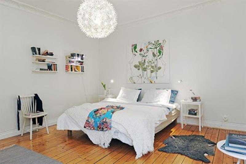 Fancy Scandinavian Bedroom
