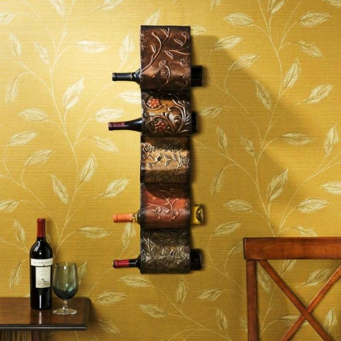 Wine Bottle Wall Holder. Awesome With Wine Bottle Wall Holder. Good ...