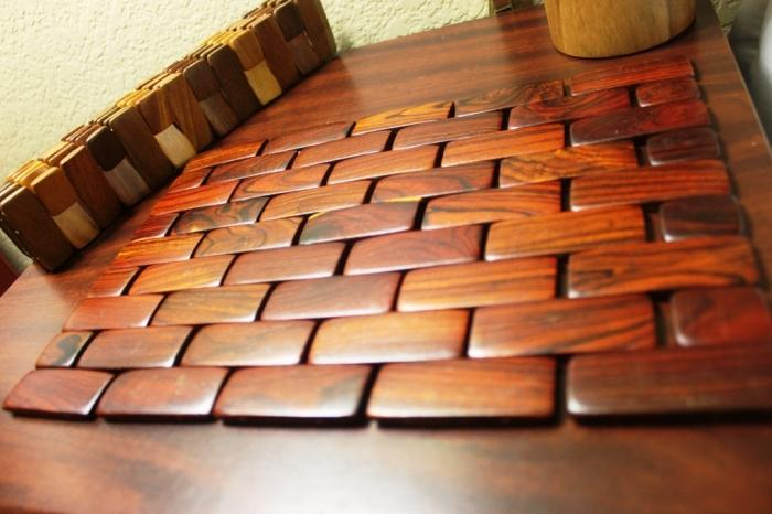 10 Oriental Style Wooden Placemats Rilane