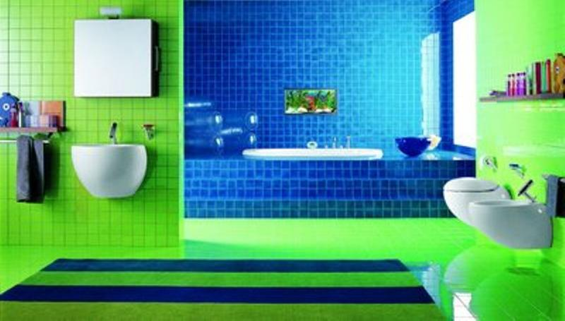 green bathroom color ideas. 15 Bold Bathroom Designs with Unusual Color Scheme  Rilane