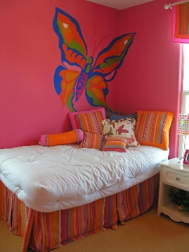 Hot Pink Butterfly Themed Bedroom