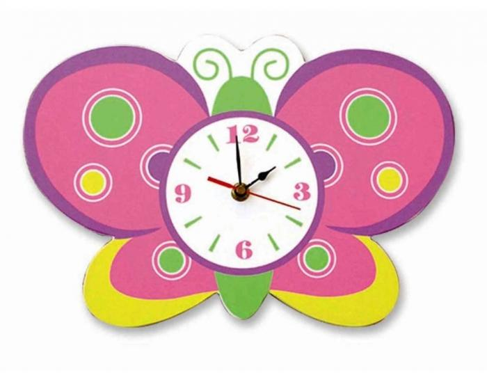 20 Cute and Colorful Wall Mount Clocks for Kid\'s Bedroom - Rilane