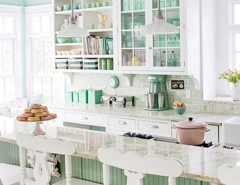 15 Soft Pastel Colored Kitchen Design Ideas Rilane - Colored-kitchens
