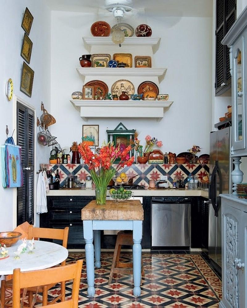 15 captivating bohemian chic kitchen design ideas rilane for Kitchen decoration designs