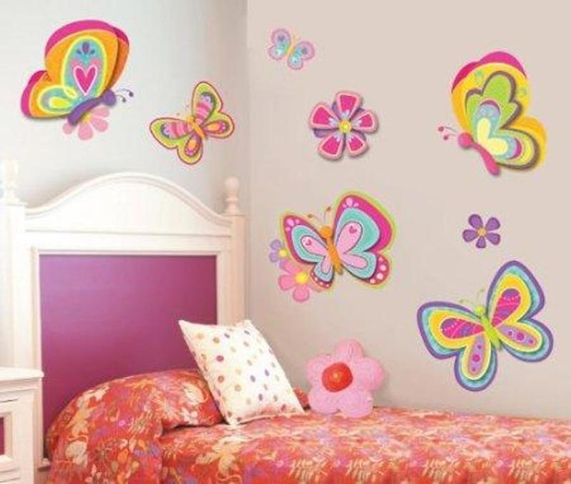 lively butterfly themed bedroom - Kids Bedroom Decorating Ideas Girls