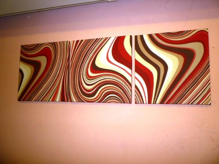 magnificent reddish abstract fabric wall art and peach wall paint - Fabric Wall Designs