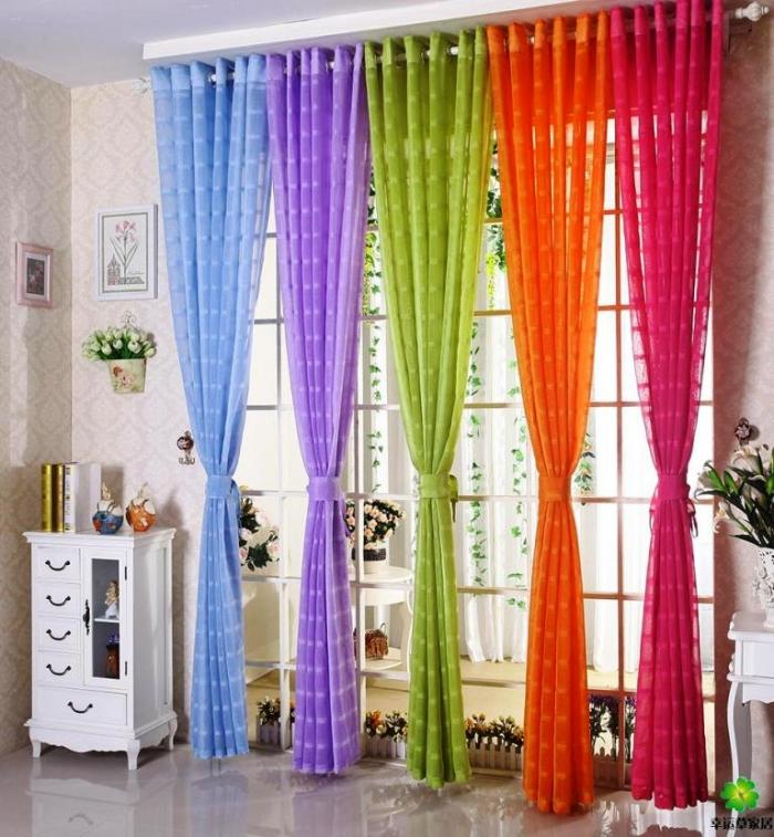 Colorful Living Room Curtains: 15 Delightful Sheer Curtain Designs For The Living Room