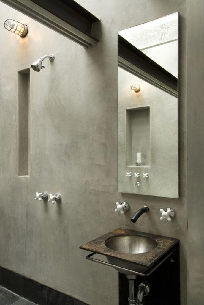 15 Bold Bathroom Designs With Concrete Walls - Rilane