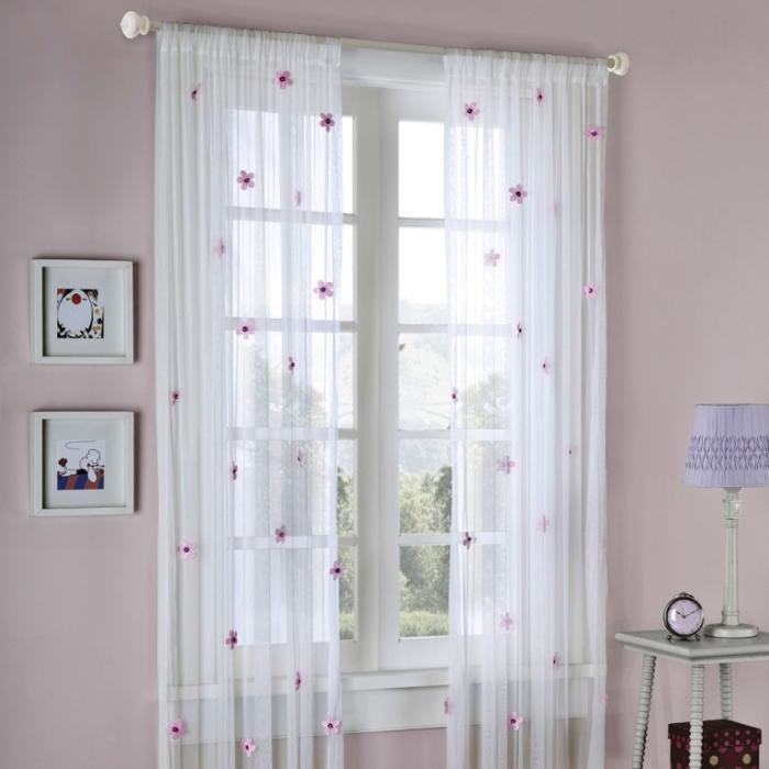 Mizone Taylor Flower Sheer Curtain Panel