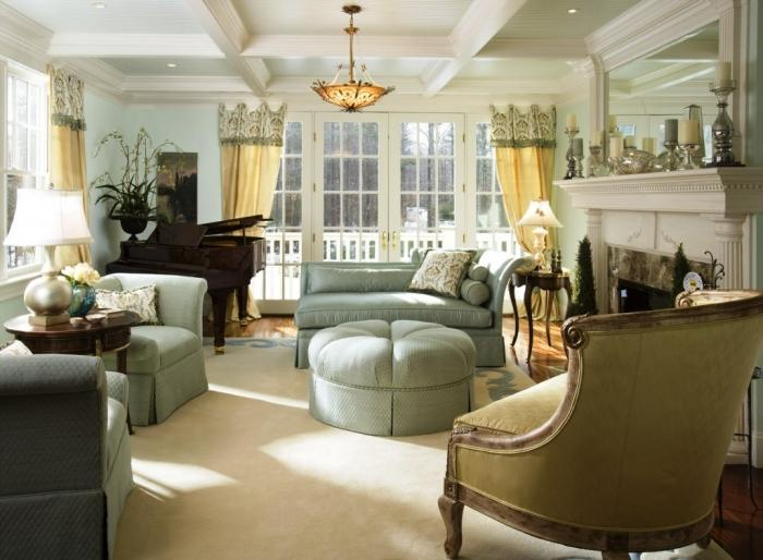15 cozy living rooms with french doors and windows rilane for French chic living room