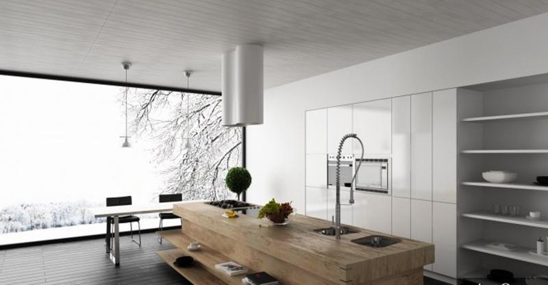Modern Wood Kitchen Island