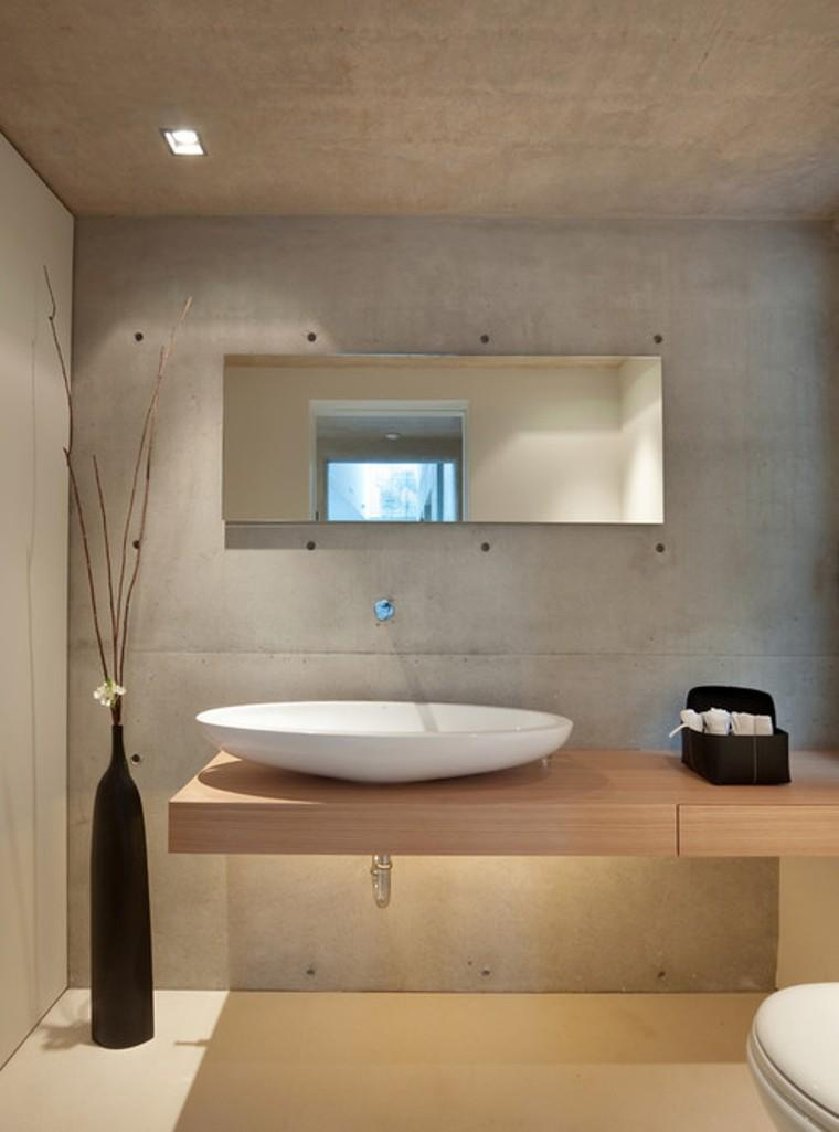 natural bathroom with concrete wall - Church Bathroom Designs