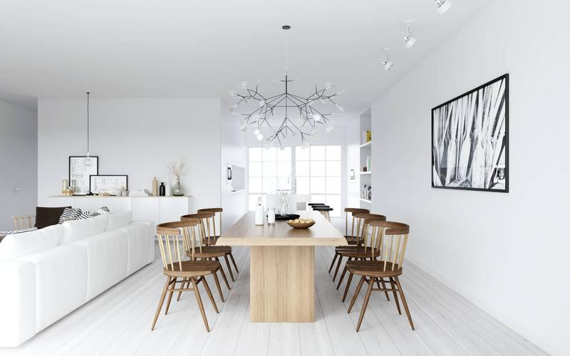 Neat Scandinavian Dining Room