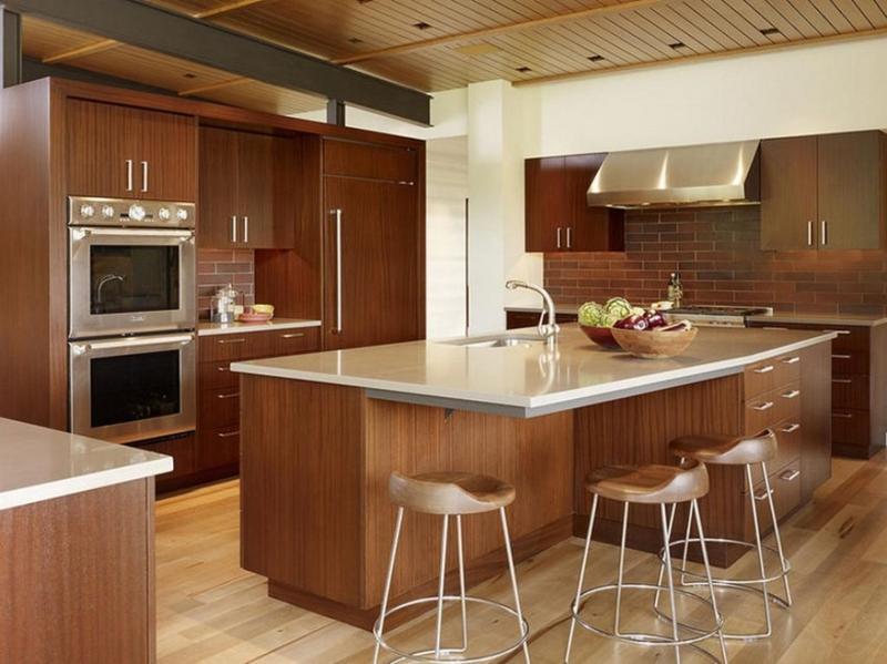 charming blue kitchen island ideas | 10 Charming and Cool Wood Kitchen Island Ideas - Rilane