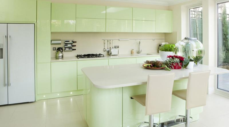 15 Soft Pastel Colored Kitchen Design Ideas - Rilane