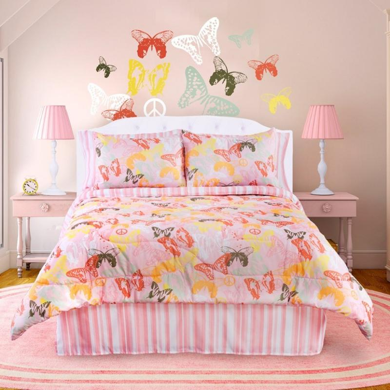 Pastel Pink Butterfly Themed Bedroom. 15 Charming Butterfly Themed Girl s Bedroom Ideas   Rilane