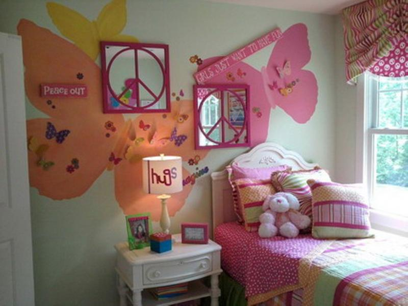 Retro Butterfly Themed Bedroom. 15 Charming Butterfly Themed Girl s Bedroom Ideas   Rilane