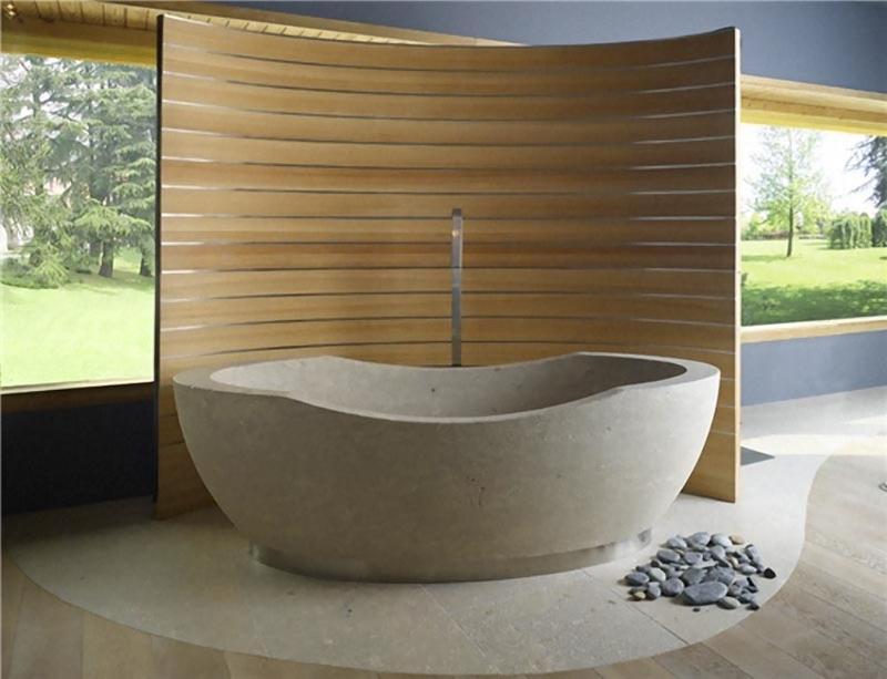 20 Amazing Bathroom Designs With Natural Stone Bathtub