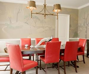 10 Dining Room Designs with Coral Peach Motifs