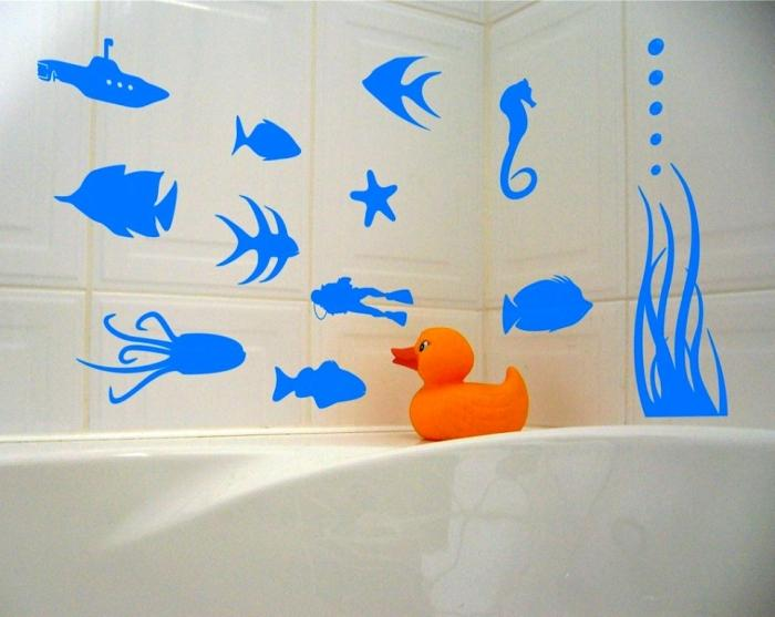 Underwater Sea Bathroom Scene Wall Stickers